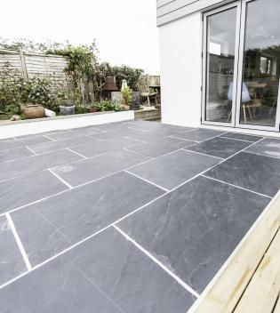 flagstones outdoor slate with rough surface